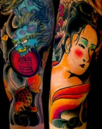 Asian tattoo sleeve