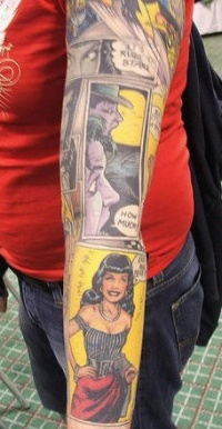 Comic book tattoo sleeve